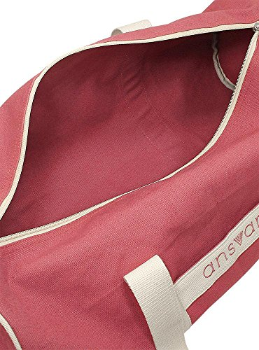 Sporttasche ansvar III aus Bio Baumwoll Canvas - Hochwertige Damen & Herren Sporttasche, Duffle Bag aus 100% nachhaltigen Materialien - mit GOTS & Fairtrade Zertifizierung, Farbe:altrosa - 6