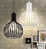 SDKKY Salon salle à manger chambre magasin de vêtements, des lustres en fer forgé et oignon simple moderne lustre cage travaille , beige Lustres luminaires décoratifs...