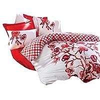 Cotton Box Çift Kişilik Nevresim Takımı - Scarlet Kırmızı