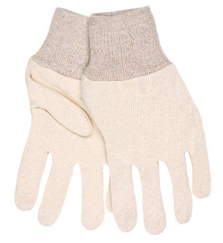 MCR Sicherheit 8002i Jersey Baumwolle Knit Handgelenk Damen Handschuhe mit 2-teiligem Wende Muster, natur, klein (Handschuh Natur-jersey)