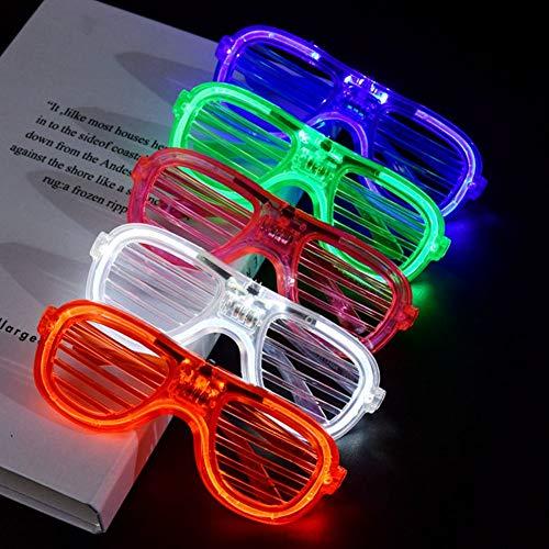 LED-Gläser Party Bag Füllstoffe leuchten Gläser Glow Brille Shutter Schattierung Gläser Kostüm Partydekorationen Requisiten Parteibevorzugung für Kinder Erwachsene