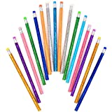 RAGE ACCESSORIES Glitter HB Pencils Rubber Writing Drawing - Best Reviews Guide