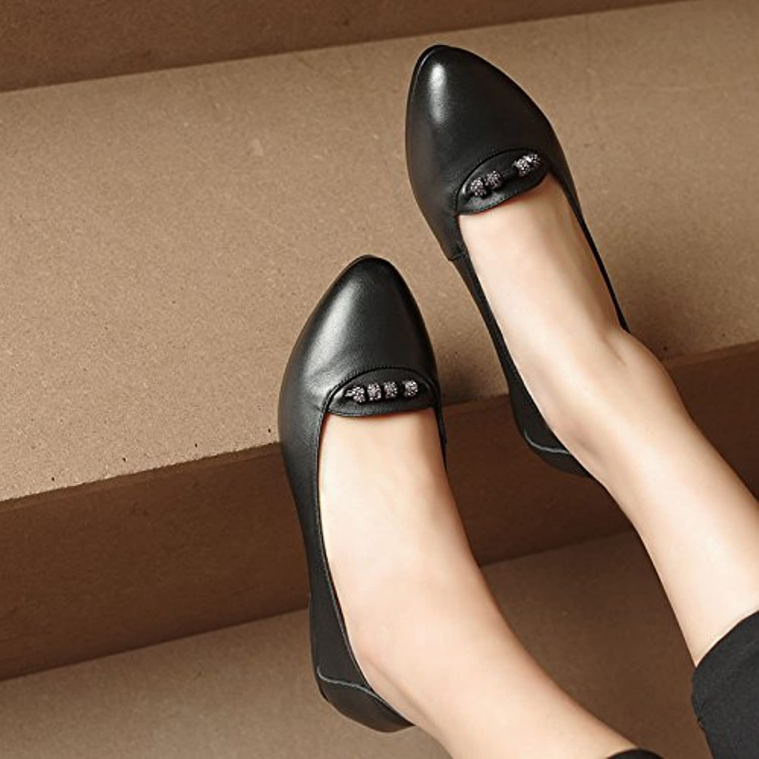 9ee89a0cf1f695 GTVERNH-Spring And And And Comfortable Work Shoes Women In Black And The  Middle-Aged Single Shoes Air Hostesses Shoes... B078JQQXG7 Parent bc7ce9