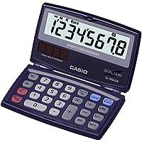 CASIO SL-100VER-SA-EH - Calculadora básica, 13.5 x 91 x 55 plegado y 9.4 x 91 x 110.5 mm desplegado, azul marino