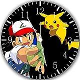 Pokemon Pikachu und Esche Wanduhr 25,4cm Will Be Nice Gift und Raum Wand Decor Z87