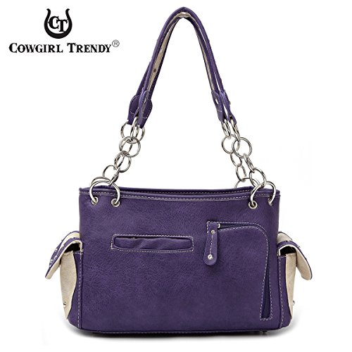 BORSE DA DONNA SCRIPTURE VERSE CONCEALED CARRY TASSEL HANDBAG BROWN VIOLA