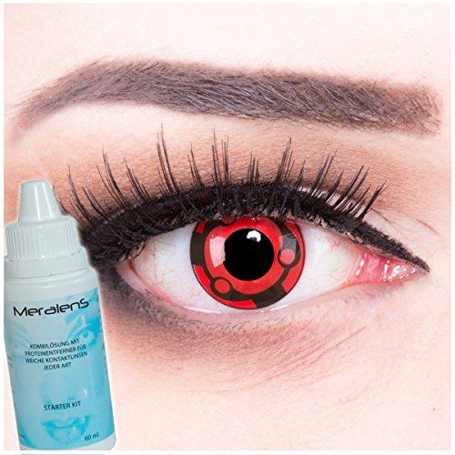 Farbige Anime Manga Kontaktlinsen crazy Kontaktlinsen crazy contact lenses Madara Sharingan 1 Paar perfekt zu Fasching, Karneval und Halloween. Mit Linsenbehälter + 60ml Pflegemittel