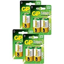 GP Batteries pilas D/LR20 Super Alcalinas (Pack de 8)