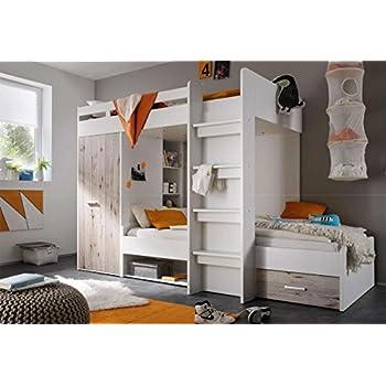 Hochbett, Jugendzimmer, Kinderzimmer, Jugendzimmermöbel ... | {Kinderzimmermöbel weiß 53}