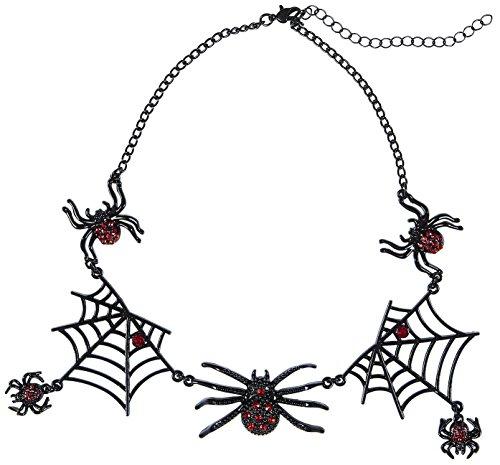 tte Spinnen Strass Womens, silber, One Size, vd-wdm09662 (Spider Lady Kostüm Halloween)