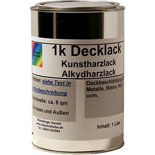 Eisenglimmerlack, Eisenglimmer Farbe, Schmiedelack, Schmiedeeisenlack, 1 Liter Gebinde, Farbton ca. DB 703