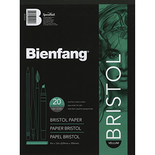 Speedball Art Products Bienfang Bristol Papel Pad, Regular Superficie, Blanco, 9 by 12-Inch