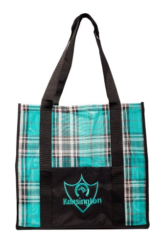 Kensington Large Tote Bag, Teal/Black
