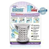 ShowerShroom der revolutionäre 5,1cm Stand-up Dusche Stall abflussschutz Haarsieb/Siebkörbchen grau