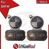 2 Stück BMW Auto Schlüssel Tastenfeld für E36 E38 E39 E46 Z3 Ersatz Schwarz Neu
