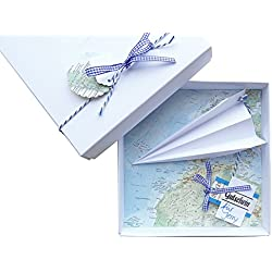 """Geldgeschenk Verpackung """"Reise Gutschein Flugzeug"""" für Geburtstag Hochzeit, Geld schenken"""