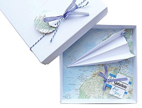 schnurzpieps 'Dinero Regalo del Paquete Viaje Avión de cupones para cumpleaños, Bodas, Dinero Ideal para Regalar