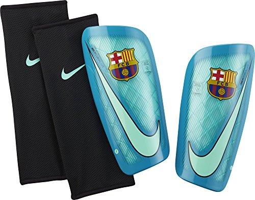 Nike Mercurial Lite-FC Barcelo Fußball-Schienbeinschoner, Green Glow/Energy/Schwarz, XL