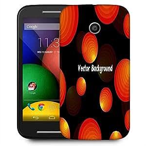 Snoogg Vector Background Designer Protective Phone Back Case Cover For Motorola E2 / MOTO E22