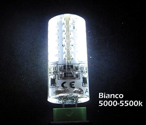 Lámpara led con cilindro de diámetro mm.12 resina G4 integrada 48 ledes 3014 3watt 200lumen