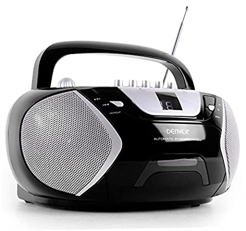 Musikanlage CD-Player Kassettendeck Boombox Radio LED-Anzeige DENVER TCP-38 MK2