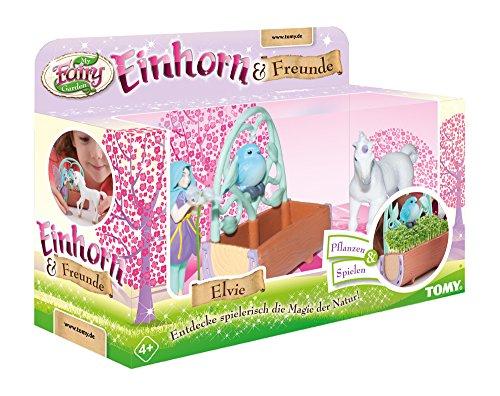 (TOMY My Fairy Garden Einhorn & Freunde Erweiterungsset – Entzückendes Pflanzset zum Selbstgestalten für Kinder ab 4 Jahre - mit Fee & Einhornfohlen inkl. Kressesamen)