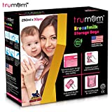Trumom Breastmilk Storage Bags, White, 30 Bags