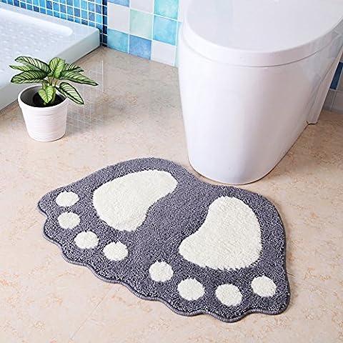 Fuß Wasser absorbierenden Matten/Bad Antirutschmatten/Schlafzimmer Badvorleger/Badvorleger-G 40x60cm(16x24inch)