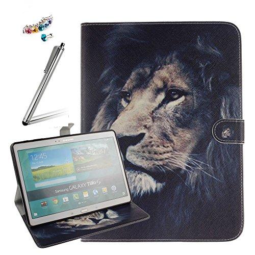 Samsung Galaxy Tab S 10.5 (SM-T800 / SM-T805) Hülle - Ultra Lightweight Slim PU Leder Schutzhülle Smart Case mit Standfunktion und Auto Sleep / Wake Up Funktion für Samsung Galaxy Tab S 10.5 (SM-T800 / SM-T805) Tablet+Eingabestift+Staubstecker,A05