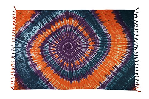Sarong Pareo Wickelrock Strandtuch Tuch Schal Wickelkleid Strandkleid Blickdicht Nanuya - Flash Farben