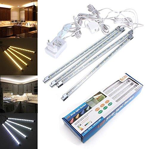 Global LED Starre Streifen-Licht Küche unter Kabinett Zähler reines weißes/warmes weißes Licht-Kit AC 110-240V (Kabinett-licht-kit)