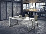 Altacom Esstisch Roma | Tisch | Küchentisch | Esszimmertisch | Weiss Hochglanz | 180 cm x 90 cm | Ausziehbar 230/280 cm | mit kratzfester Melamin Oberfläche