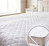 Story@Home Premium Waterproof Hypoallergenic Solid Cotton Mattress Protector - Queen Size, White
