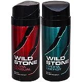 WiLD STONE Ultra Sensual & Hydra Energy (each 150ml) Pack Of 2