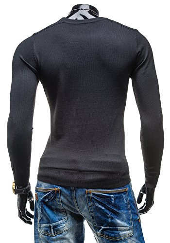 BOLF Herrenpullover Pulli Sweatshirt Sweatjacke Sweater Top S-WEST 889 Schwarz