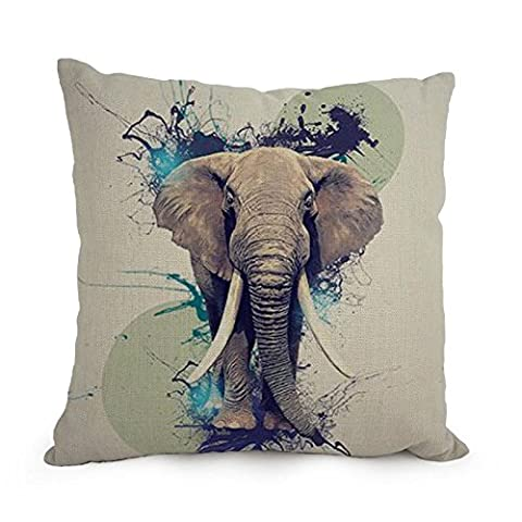 Slimmingpiggy 12 X 20 Inches / 30 By 50 Cm Elephant Throw Pillow case/Kissenbezüge ,twice Sides Ornament And Gift To Home Office,bedding,dining Room,lover,him,club