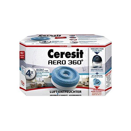 Ceresit AERO 360 Luftentfeuchter Nachfülltabs, 4 x 450g