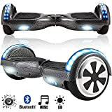 Magic Vida Skateboard Électrique 6.5 Pouces Bluetooth Puissance 700W avec Deux Barres LED Gyropode...