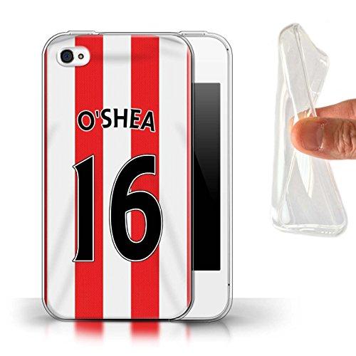Offiziell Sunderland AFC Hülle / Gel TPU Case für Apple iPhone 4/4S / Pack 24pcs Muster / SAFC Trikot Home 15/16 Kollektion O'Shea