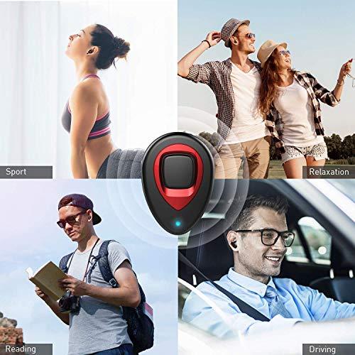XIAOWU Cuffie Bluetooth Senza Fili V4.1 Mini Auricolari Wireless Bluetooth Effetto Stereo con Microfono Incorporato e Base di Ricarica per iPhone 8,