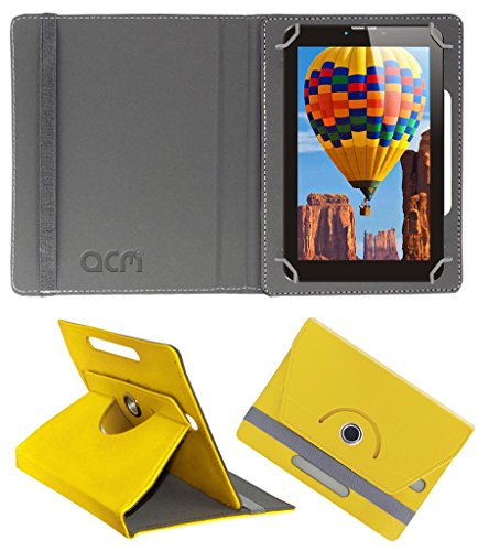 Acm Rotating 360° Leather Flip Case for Tescom Bolt 3g Cover Stand Yellow  available at amazon for Rs.149