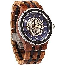 Wilds Revolution Relojes de Madera Premium Eco Movimiento Mecánico Automático