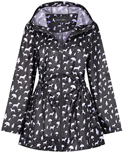 Raindrops by Finesse -  Giacca impermeabile  - Donna Dogs & Cats Print