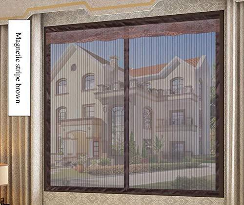 Anti-Moskito-Vorhang,Magnet Fliegengitter Balkon Fenster vorhang,Glasfasermaterial Fliegengitter Balkon Fenster vorhang Magnetvorhang Insektenschutz , Klebmontage ohne Bohren,G,120*120cm/47*47in - Küche Terrasse Vorhänge