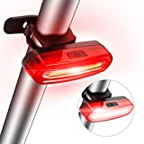 Fahrrad Rücklicht,SGODDE Ultra Hell Fahrradlicht LED COB Fahrradbeleuchtung Fahrradlampe Fahrradrücklicht Rückleuchten Fahrradrückleuchte USB Aufladbar Wasserdichte mit 6 Licht Modi Rot Weiß Geeignet für Fahrrad