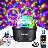 CHOELF Luci Discoteca LED, Palla da Discoteca e Luce Notturna con Altoparlante Bluetooth, 9 LED Proiettore Luci Sfera Lampada, Luci da Palco con Telecomando per Natale Party Regalo Bambini Feste