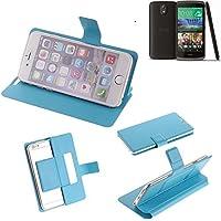 Caso de protección cubierta del tirón para HTC Desire 526G Dual SIM, azul claro | estilo del libro cartera cubierta delgada - K-S-Trade (TM)