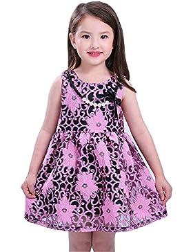 CozofLuv - Vestido - kimono - Sin mangas - para niña
