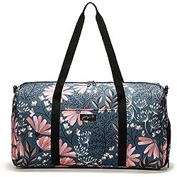 Jadyn B Weekender Bag - 56 cm./ 52L - Sac polochon avec Poche à Chaussure (Navy Floral)