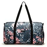 "Jadyn B 22"" Women's Weekender Duffel Bag with Shoe Pocket, Navy Floral"